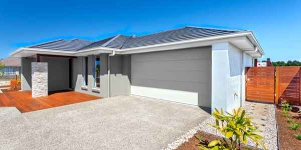 Huse with a newly built garage