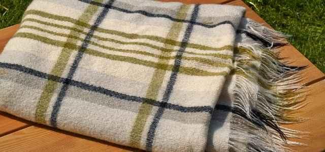 Blanket on bench