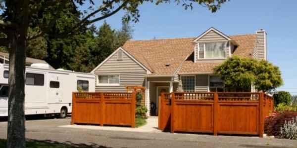 Privacy fence around yard