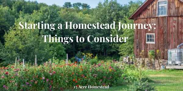 starting a homestead journey