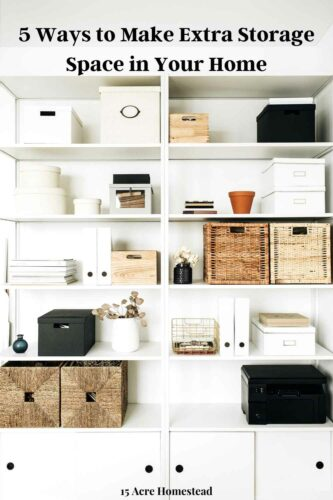 Eliminate the clutter in your home with these simple extra storage space making tips.
