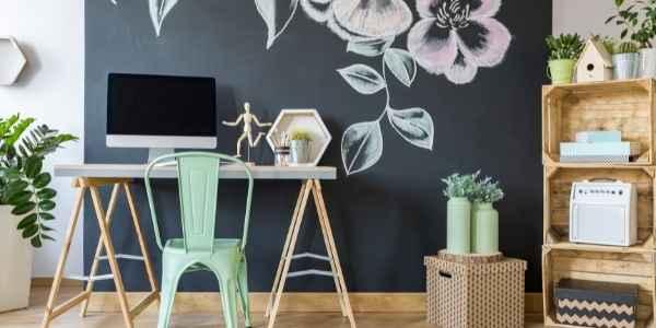 Modern decor sitting area