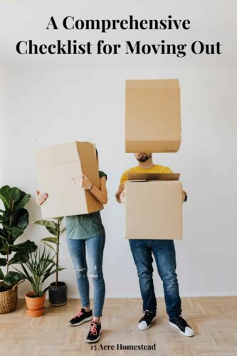 Use this checklist for moving out to ensure a stress-free process on moving day for yourself.