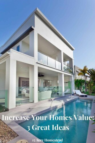 If you're thinking of selling your home, you should increase your homes value, and now is a great time to do that.