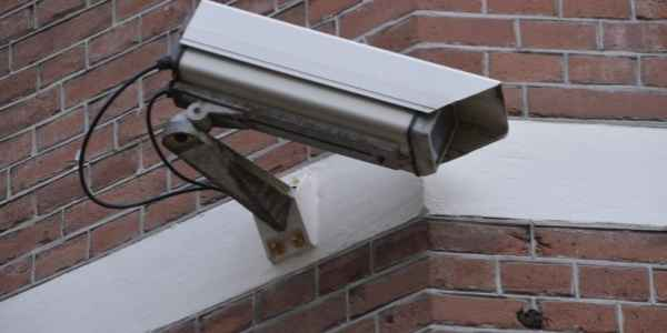 security camera on house