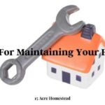 Tools on a house for home maintenance